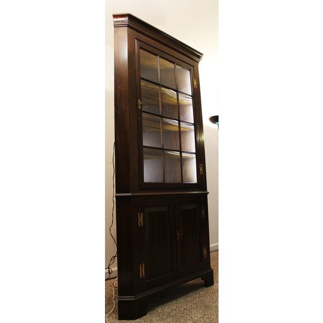 Image of Henkel Harris Genuine Lighted Corner Cabinet