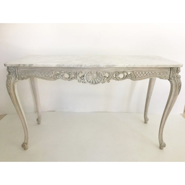 French Marble Topped Console Table - Image 2 of 6