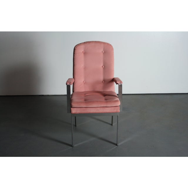 Milo Baughman for DIA Blush Dining Chairs - S/6 - Image 9 of 12