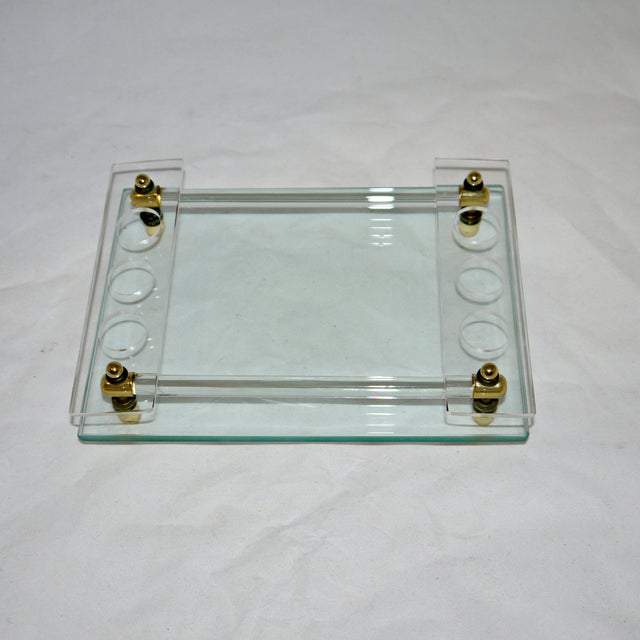Image of Glass and Lucite Vanity Tray
