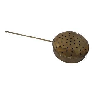 English Brass Hearth Pan