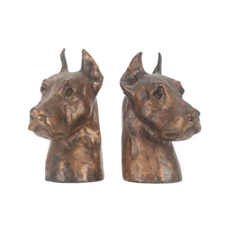 McClelland Great Dane Heads Bookends - A Pair