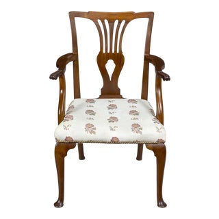 Queen Anne Mahogany Armchair on Cabriole Pad Feet