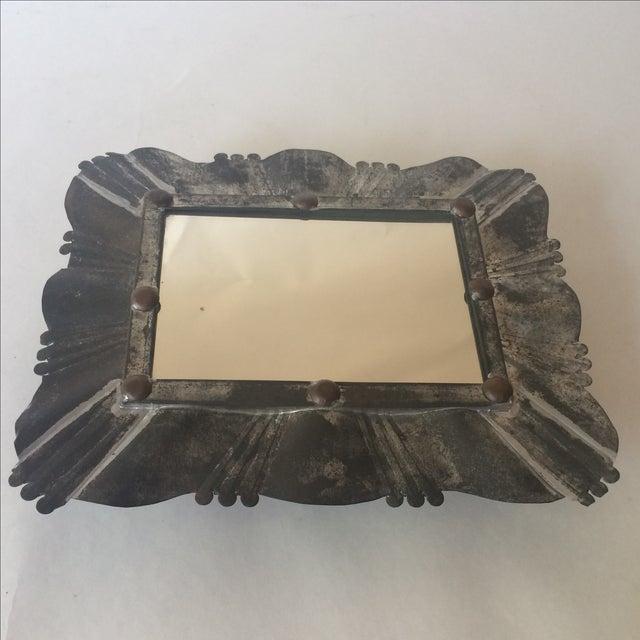 Vintage Tin & Copper Mirror - Image 11 of 11