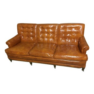 Mid-Century Modern Tangerine Sofa
