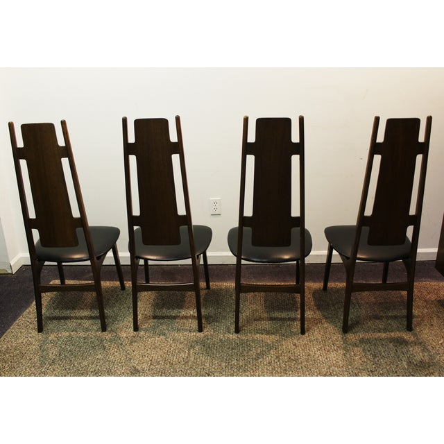 Modern High Back Chairs: Mid Century Modern High Back Dining Chairs - 4