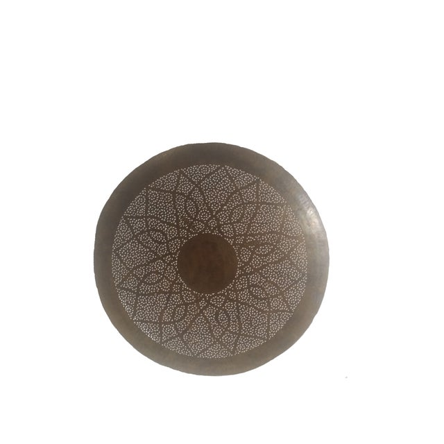 Moroccan Hand Carved Brass Ceiling Light - Image 4 of 4