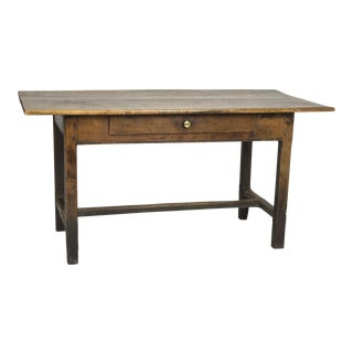 Rustic English Fruitwood Writing Table With Single Drawer, Circa 1840.