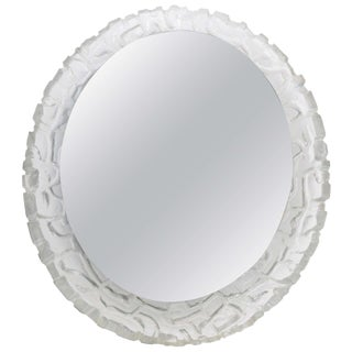Round or Oval Cast Resin Lit Mirror