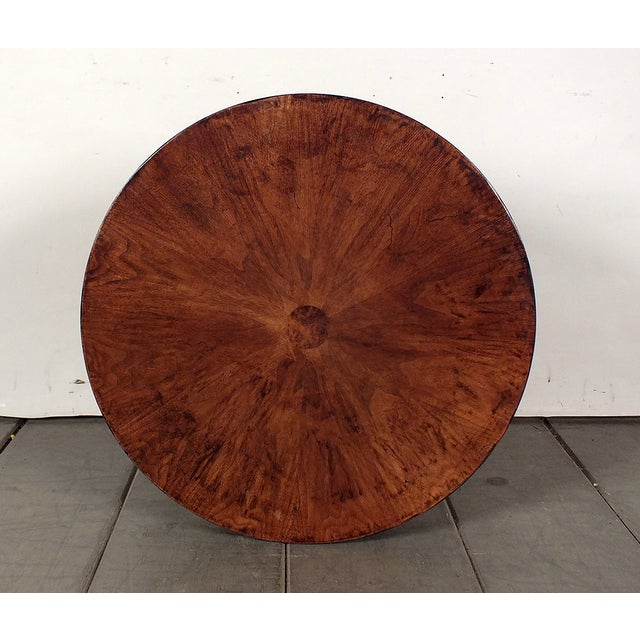 Image of 1950s Regency Style Round Side Table