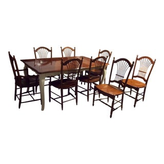 Solid Wood Dining Table and Chairs by Drexel (Entire Set Listed Individually, Set Offers Welcome, See Listing Below)