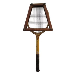 Vintage Wood Tennis Racquet with Press