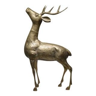 Mid-Century Modern Brass Deer