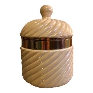 Tommaso Barbi Chrome & Porcelain Ice Bucket