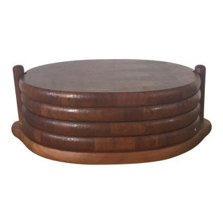 Digsmed of Denmark 1964 Danish Teak Stacking Trays - Set of 4