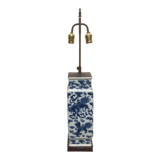 Antique Blue & White Chinese Porcelain Lamp