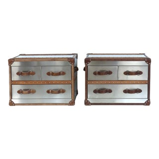 Timothy Oulton Trunk Nightstands - A Pair