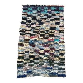 Moroccan Traditional Boucherouite Fabric Rug - 3′ × 5′