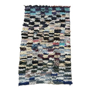 Moroccan Traditional Boucherouite Fabric Rug - 3′ × 5′