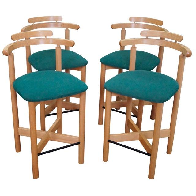 Image of Findahls Mobelfabrik Danish Bar Stools - Set of 4