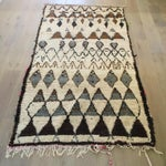 "Image of Vintage Gray & Brown Moroccan Rug - 4'5"" x 8'8"""