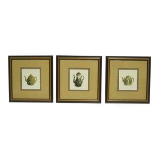 Sarreid LTD Framed Drawings of Vintage Pitchers - Set of 3
