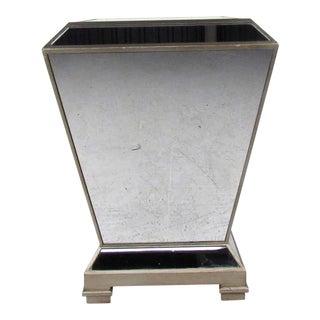 Vintage Modern Mirrored Pedestal