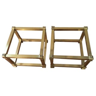 Vintage Mastercraft Brass Cocktail Tables - A Pair