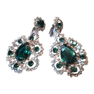 KJL Emerald Drop Earrings