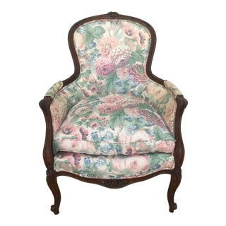 Antique French Louis XV Style Bergere Chair