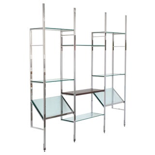 Milo Baughman Wall Mounted Shelving System