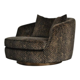 Milo Baughman Large Swivel Chair