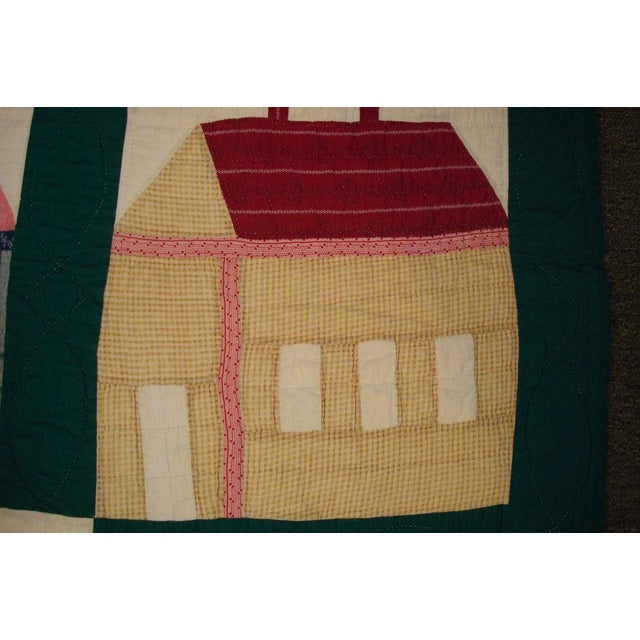 Early 20thC. Folky School House Quilt - Image 7 of 9