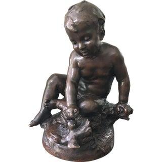 Antique Bronze Sculpture After Auguste Moreau