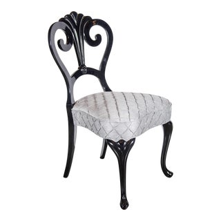 Elegant 1940s Hollywood Occasional Chair in the Manner of Dorothy Draper