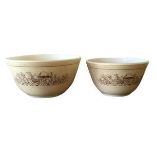Pyrex Forest Fancies Glass Mixing Bowls - A Pair