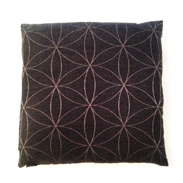 Charcoal Modern Graphic Pillow Chairish