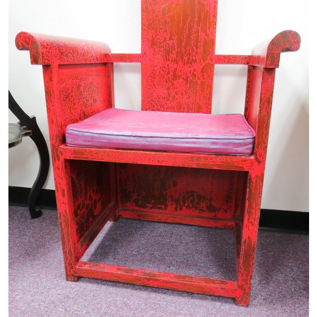 """Image of Tall Asian Alter Chair 81""""High"""