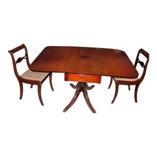 W&j Sloane Drop Leaf Table & Chairs - Set of 3