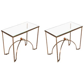 Pair of Brass Side Tables by Arturo Pani