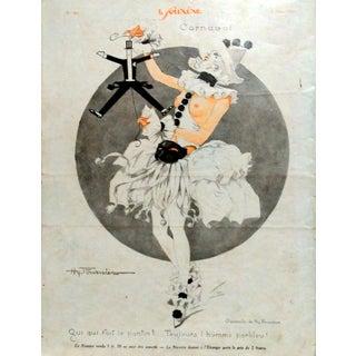 """H. Fournier 1926 Le Sourire """"Carnival"""" Print"""