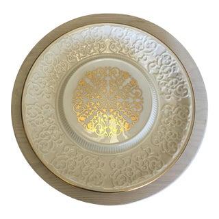 Lenox 24 Gold Trim & Detail Cheese Platter
