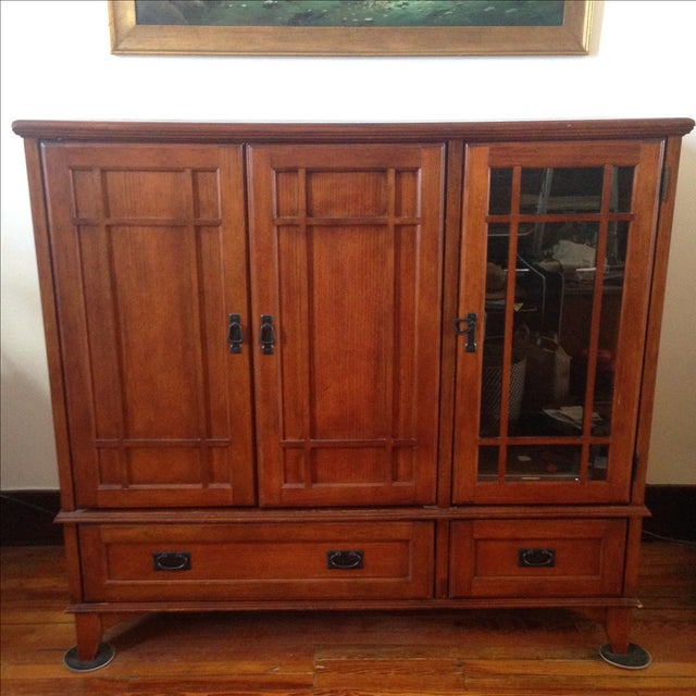 Wooden Entertainment Center - Image 2 of 6
