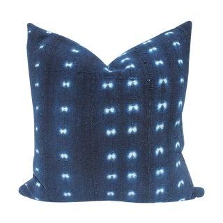 Vintage Indigo Mali Mudcloth Pillow