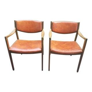 Mid-Century Modern Gunlocke Chairs - A Pair
