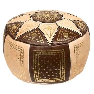 Moroccan Brown Pouf Ottoman