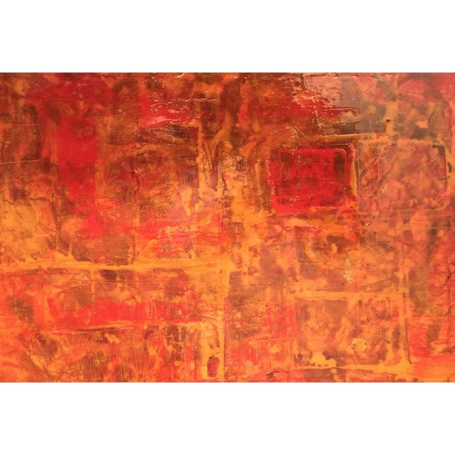 Bryan Boomershine Red-Orange Abstract Painting - Image 5 of 5