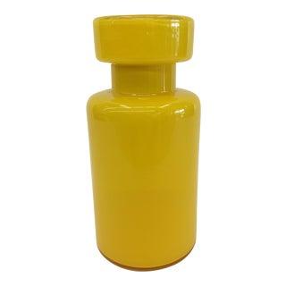 Yellow Modernist Murano Lidded Jar