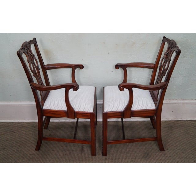 Maitland Smith Chippendale Style Mahogany Dining Chairs Set Of 8 Chairish