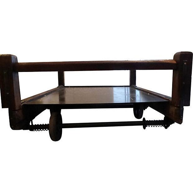Large Industrial Cart Coffee Table Chairish